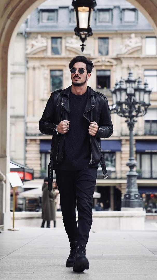 ALL BLACK OUTFIT for fall season