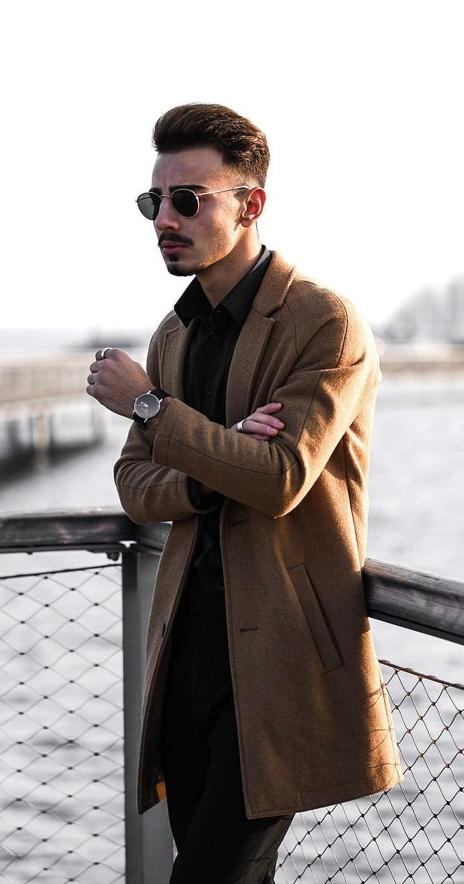 Brown Overcoat for Mens Fall Outfit