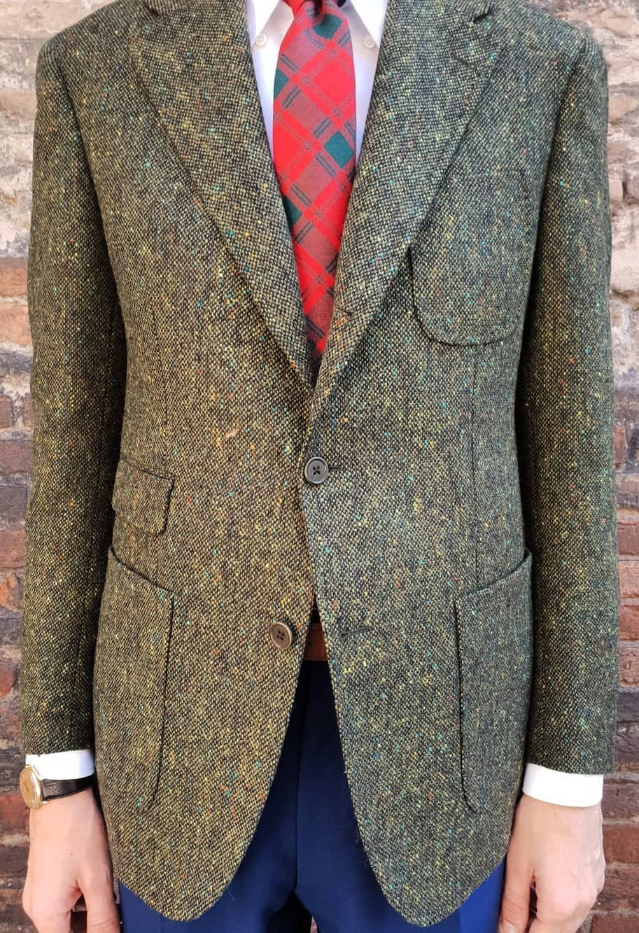 Tweed Green Jacket Blazer Outfit