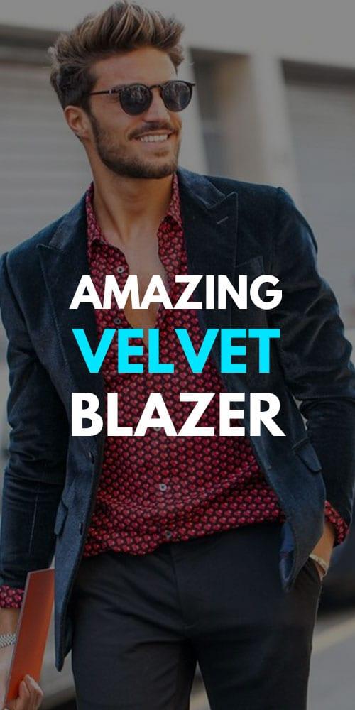 Velvet Blazer Outfits for Men 2019