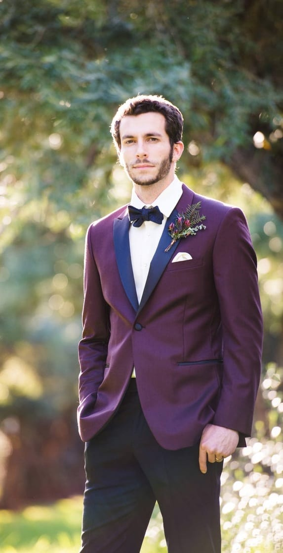 Stunning Purple Suit Outfit for Wedding