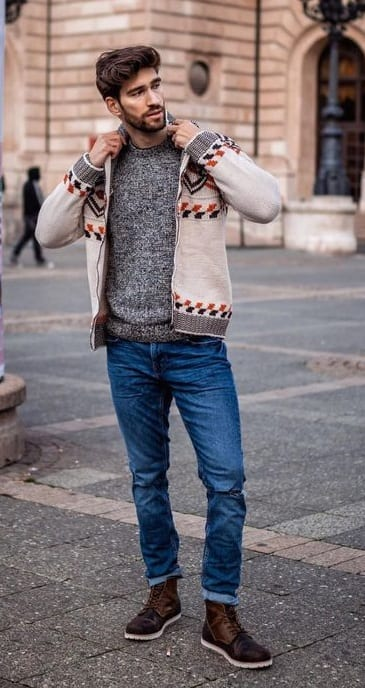 Mens Knitwear Jacket for this Winter Season
