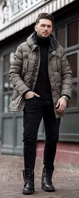 Puffer Jacket For Mens Winterwear