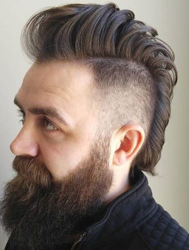 Sexy Mohawk with Beard look for 2020