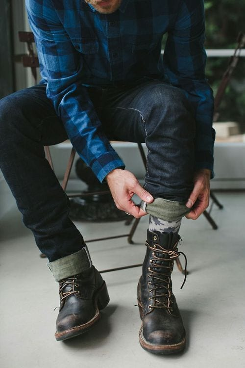 Black-And-Brown-Lace-Up-Boots
