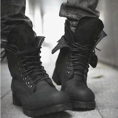 Black-Lace-Up-Boots