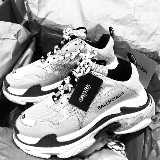 Black and White Balenciaga Shoes