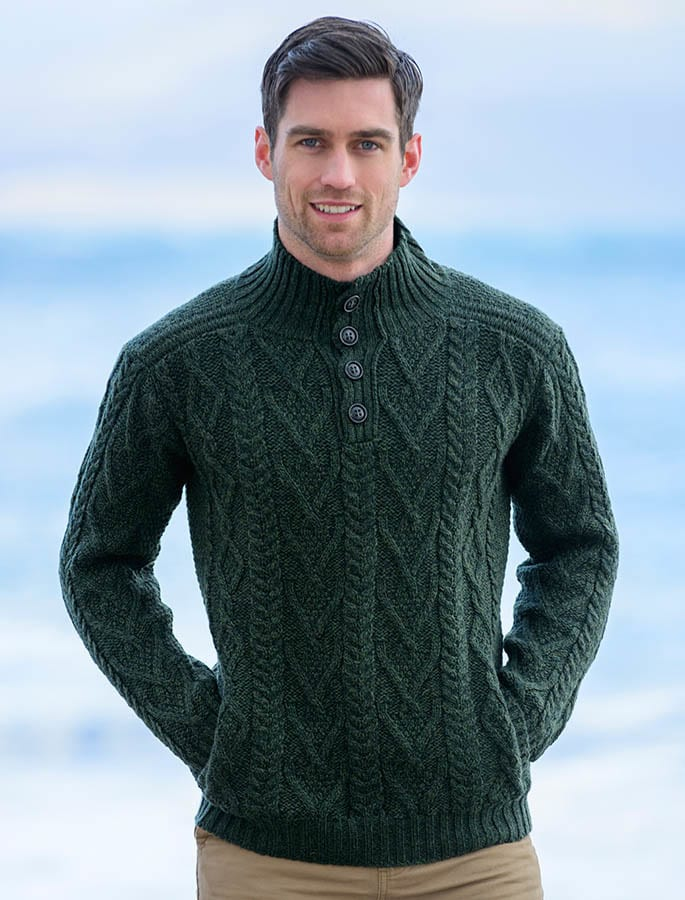 Green-Knit-Sweater