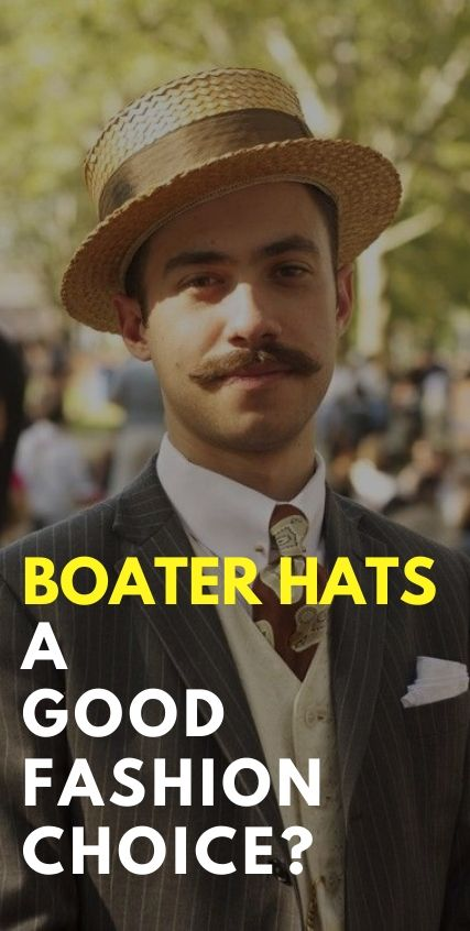 Boater Hats a good fashion choice