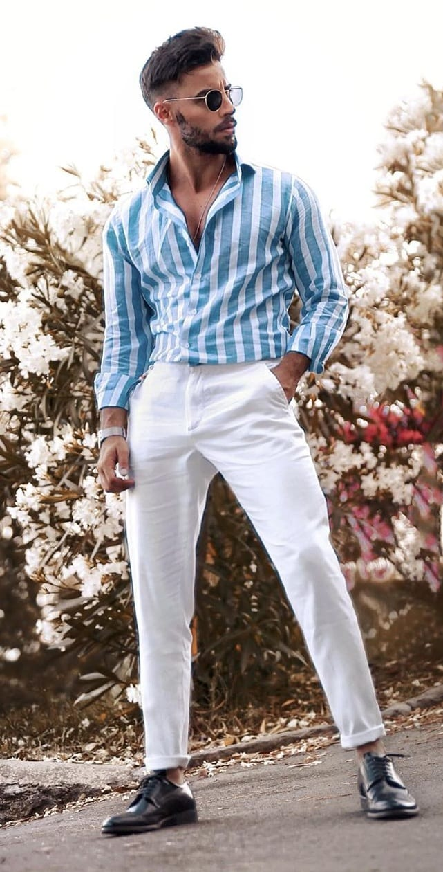 Breezy Trousers and Striped Shirt Fashion 2020