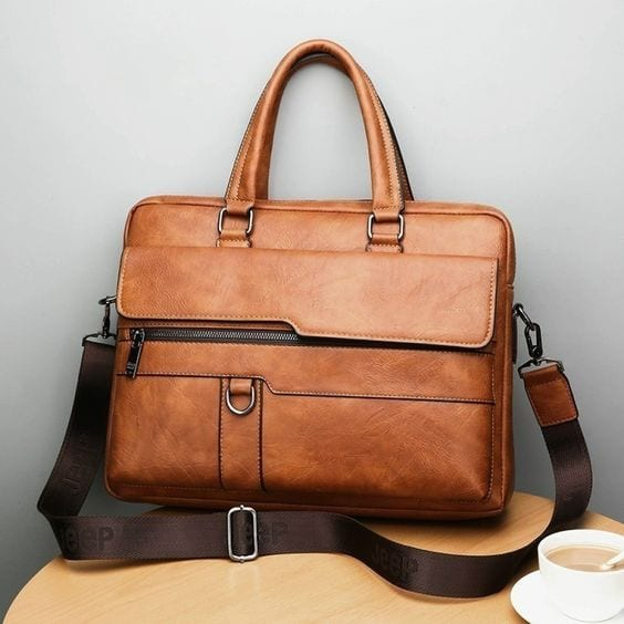 Brown Briefcase Handbag For Men