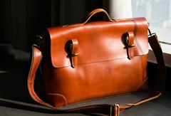 Handmade-leather-Briefcases-men-messenger-Coffee-shoulder-bag-vintage-bag-for-him