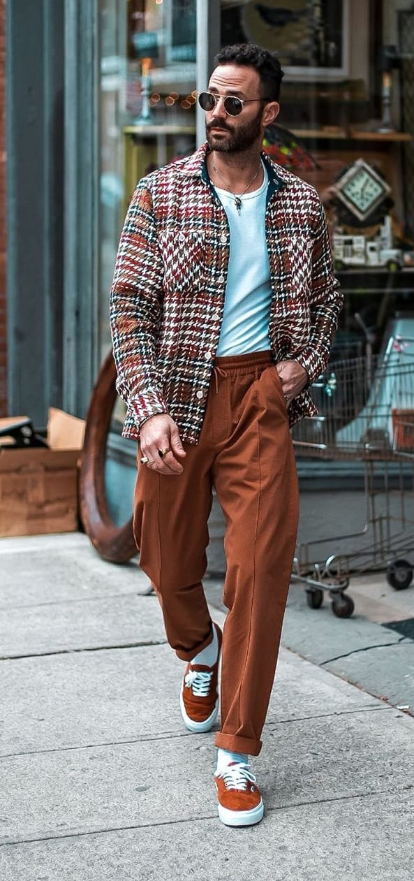 Trouser-tee-Jacket Outfit idea for 2020