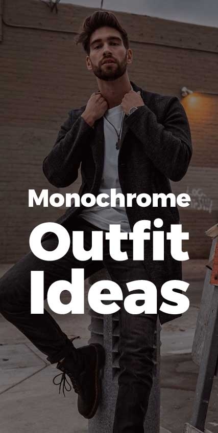 Monochrome-Outfits-men-