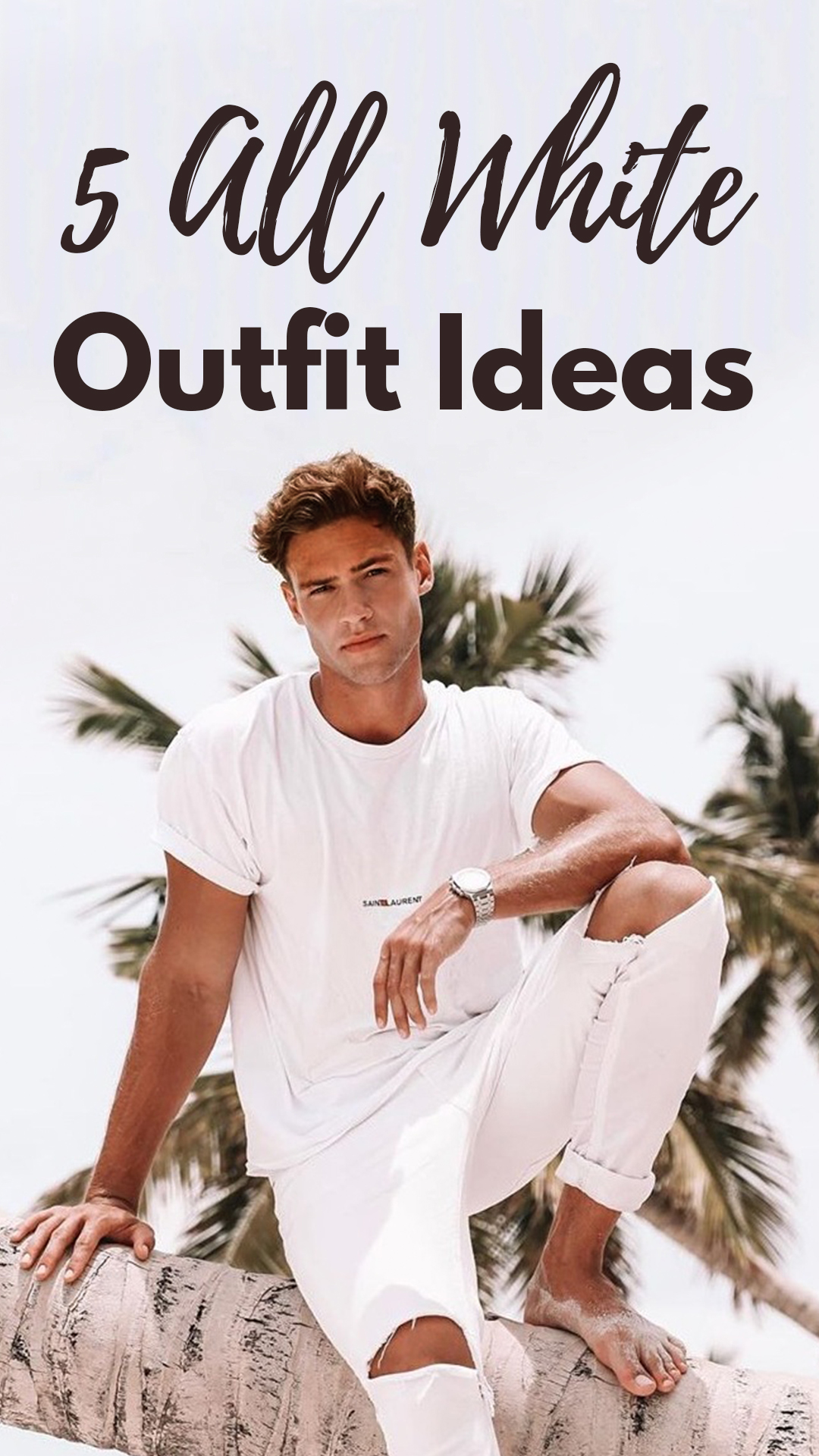 5 All White Outfits For Men