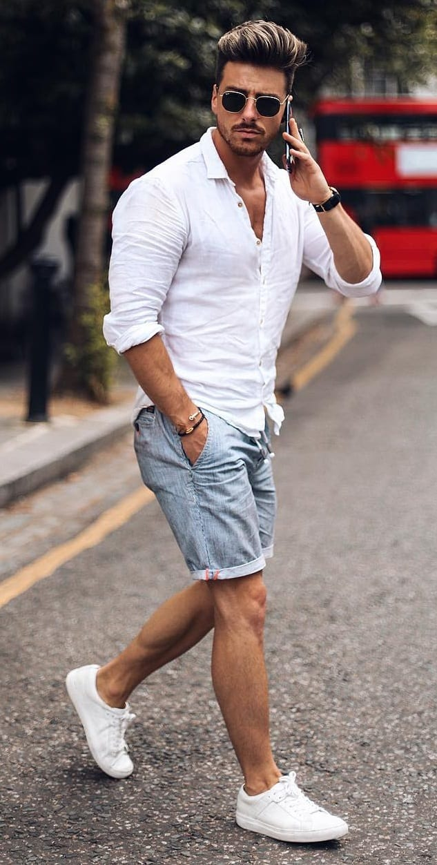 5 Denim Shorts Outfit for Men