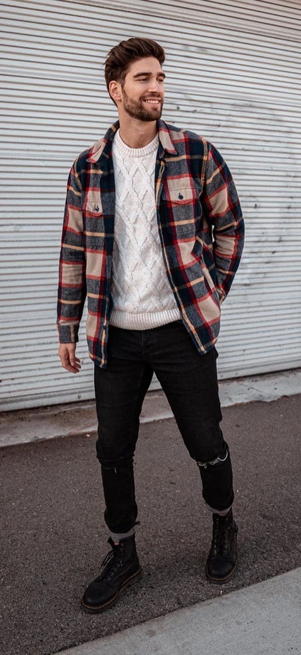 Cool Plaid Jacket Outfit Ideas