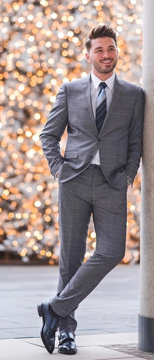 Mens Grey Suit Ideas