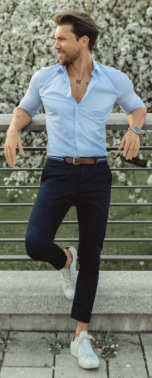 Pastel Blue Shirt- Summer Color Trends 2020