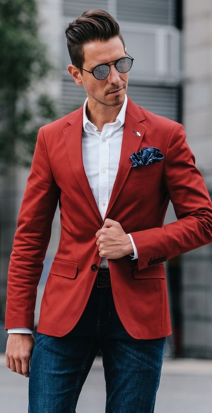 Bold Red Outfits for Men