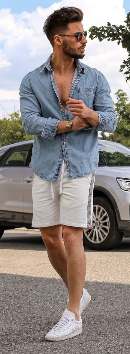 Chambray Shirt Outfit For Summers