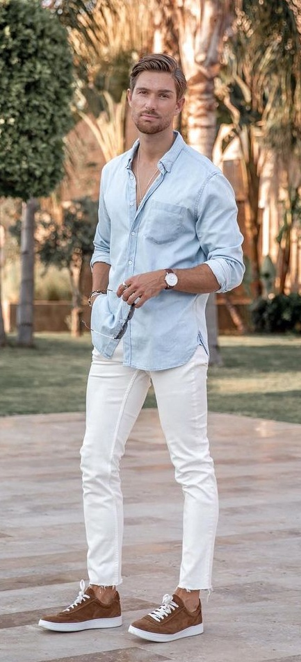 10 Awesome Ways To Wear White Pants