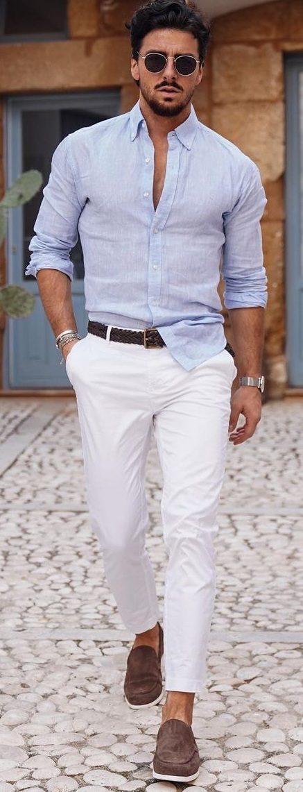 How Men Can Style White Pants