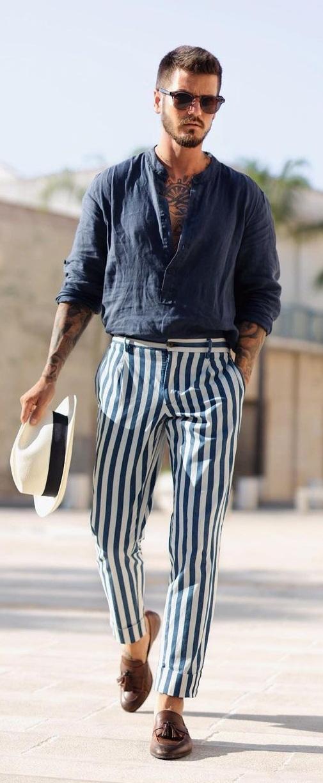 Striped Pants - Summer Bottoms for Men