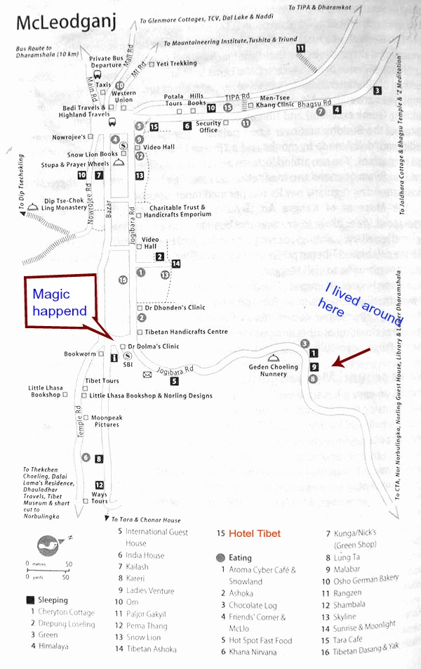 Map of Mcleod Ganj