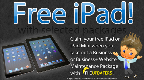 Free iPad or iPad Mini!