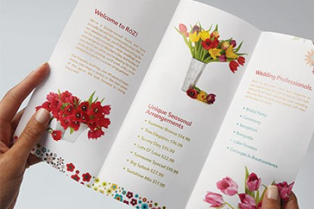 Brochure Printing   Custom Brochures   The UPS Store Pictures of flowers for flowershop brochure