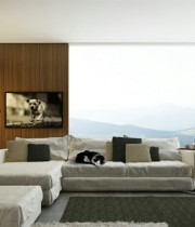 Living-Rooms-With-Great-Views_fantasia-sofa-with-latest-designs_lounge-chair_floor-lamp-targets_natural-window_simple-cushions_televisions-led_metal-side-table_wooden-flooring-970×478