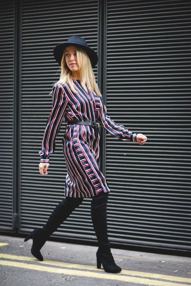 diana-sweatshirts-and-dresses-fashion-blogger-tommy-hilfiger-stripe-shirt-dress-stuart-weitzman-overknee-boots-autumn-trend-1