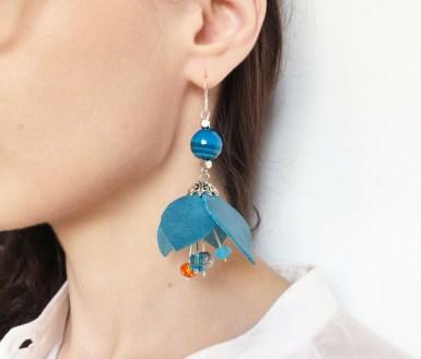detaliu 2 cercei flori piele sash accessories