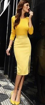 yellow monochromatic look