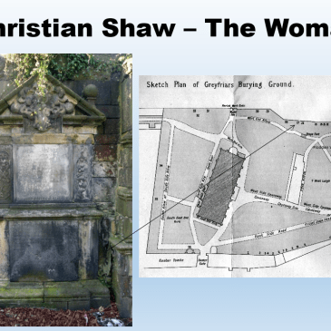 Christian Shaw buirial site in EdinburghE