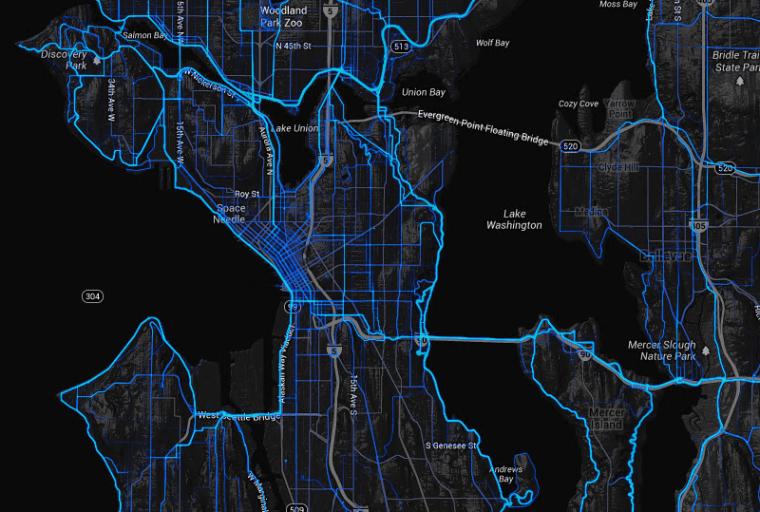 Strava Global Heatmap-biking
