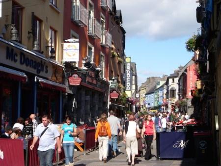 Galway Pedestrianized Street