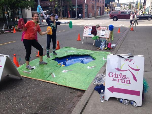 Parking Day Girls on the Run