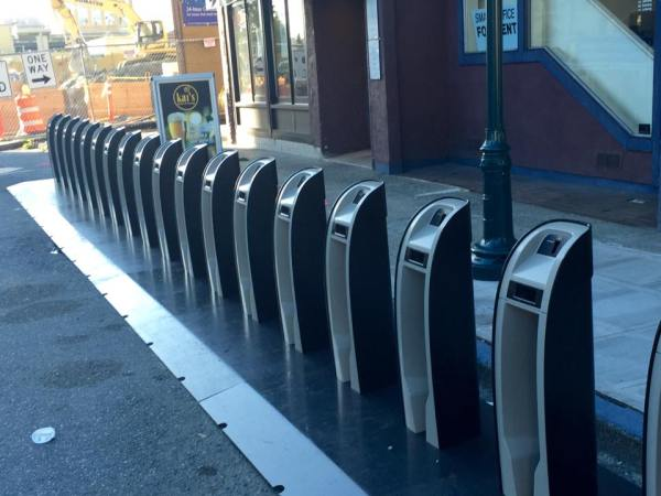 New Pronto! Cycle Share docking station.