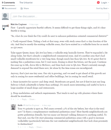Comments on the blog.