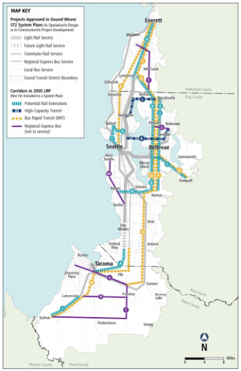 2005 Long Range Plan, courtesy of Sound Transit.
