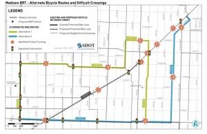 Madison BRT Alternate Bicycle Routes