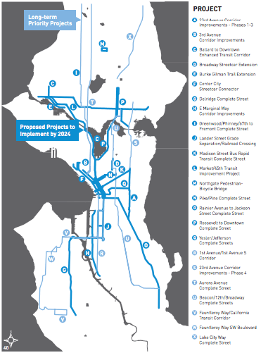 The big ticket project list, courtesy of SDOT.