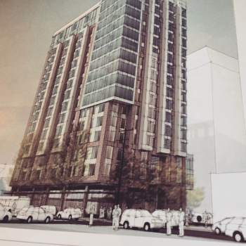Rendering of 1001 Minor Ave tower, courtesy of DPD.