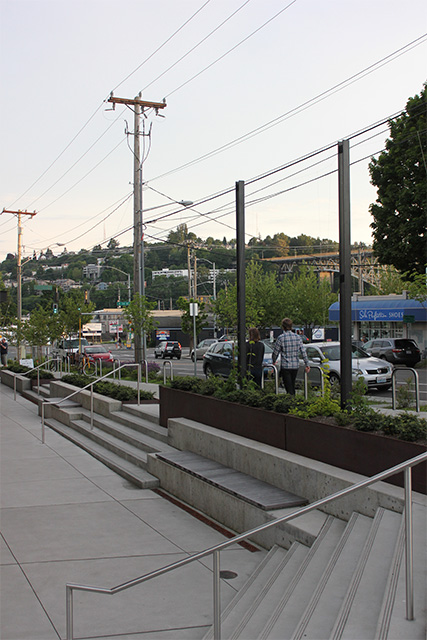 Streetscape improvements by Stone 34