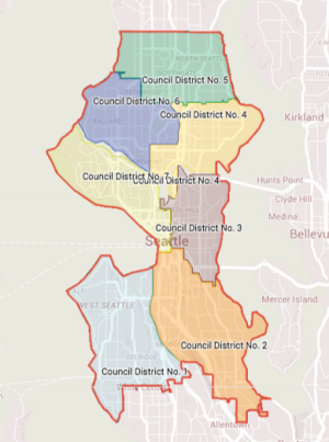 District Map of Seattle