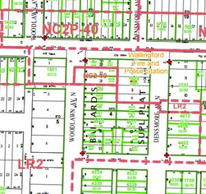 Wallingford zoning map.
