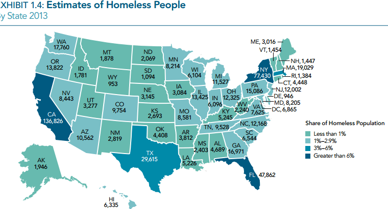 Homeless Population  >> Seattle King County 3rd Largest Homeless Population In 2013 Hud