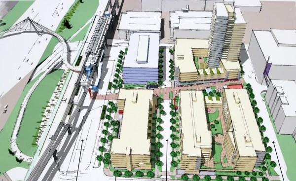 Northgate TOD concept plan. (Via Architecture)